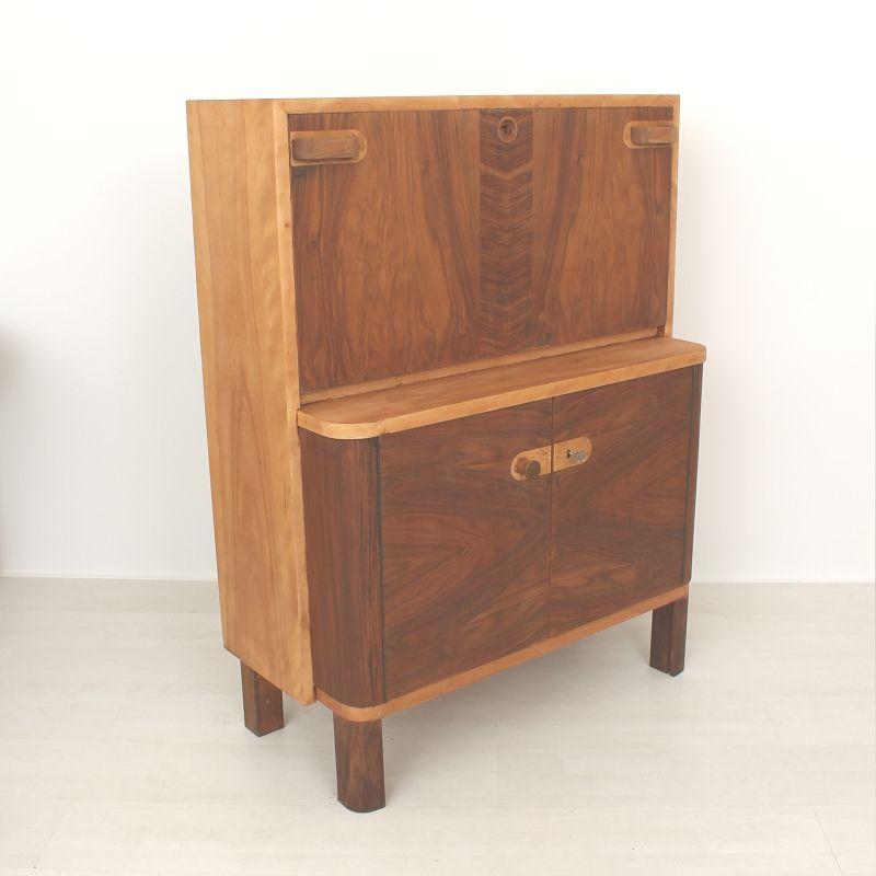 s cr taire art deco en bois en vente sur pamono. Black Bedroom Furniture Sets. Home Design Ideas