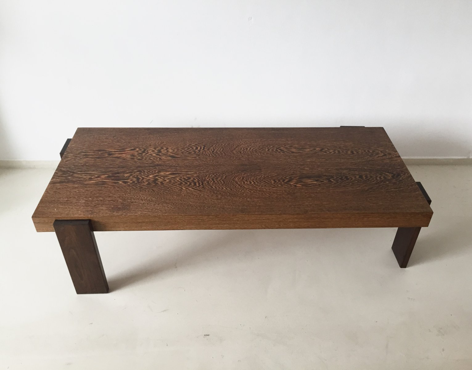 Vintage rectangular weng coffee table for sale at pamono Wenge coffee tables