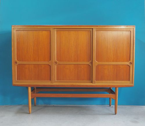 d nisches teak sideboard 1950er bei pamono kaufen. Black Bedroom Furniture Sets. Home Design Ideas