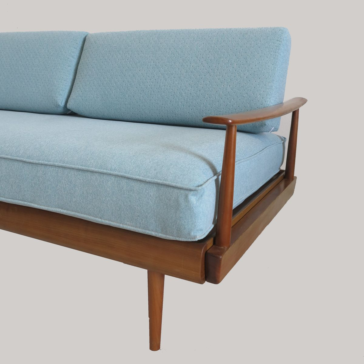 turquoise blue daybed sofa by wilhelm knoll for knoll germany 1960s for sale at pamono. Black Bedroom Furniture Sets. Home Design Ideas