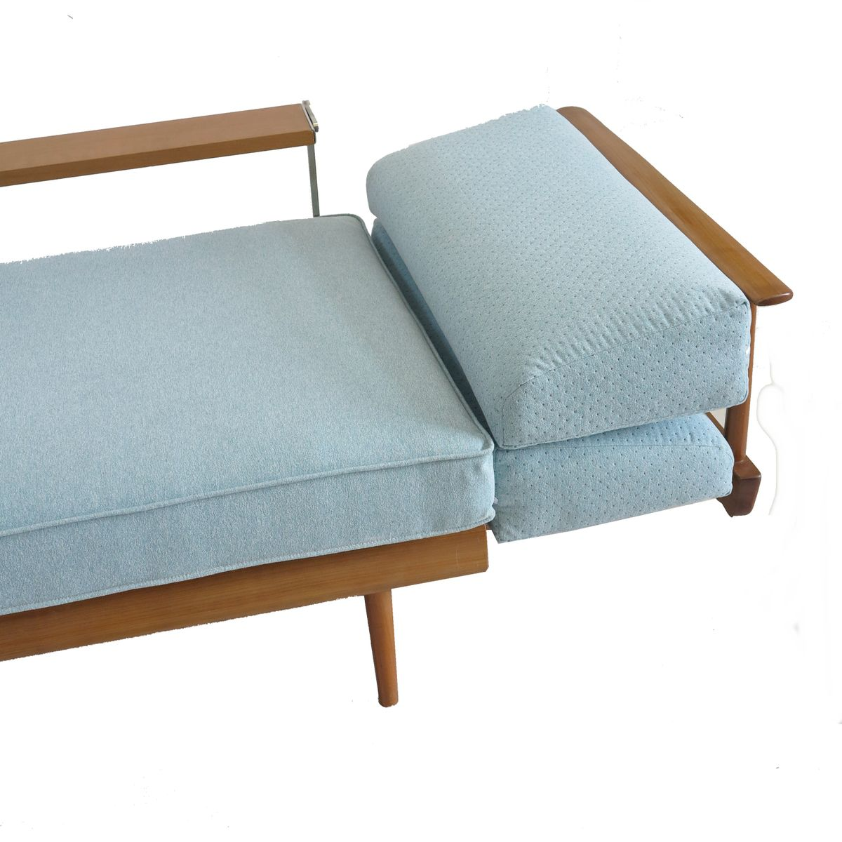 turquoise blue daybed sofa by wilhelm knoll for knoll. Black Bedroom Furniture Sets. Home Design Ideas
