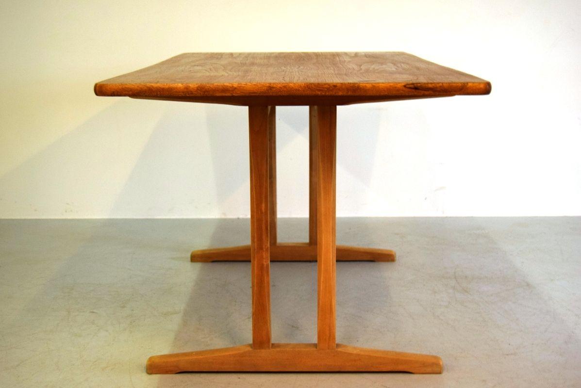 mid century dining table by børge mogensen for fdb s for sale  - mid century dining table by børge mogensen for fdb s