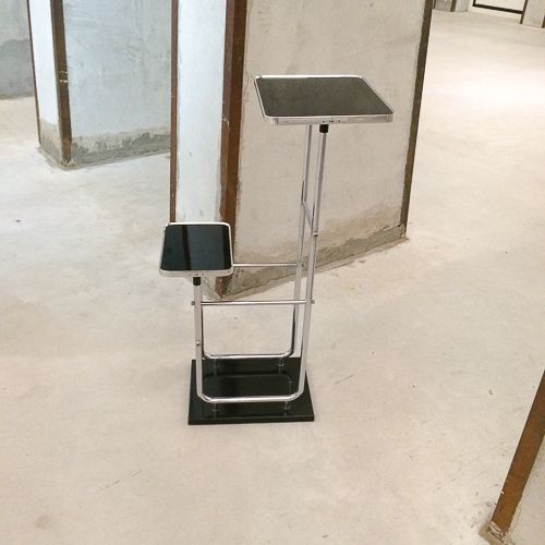 bauhaus metall glas beistelltisch bei pamono kaufen. Black Bedroom Furniture Sets. Home Design Ideas