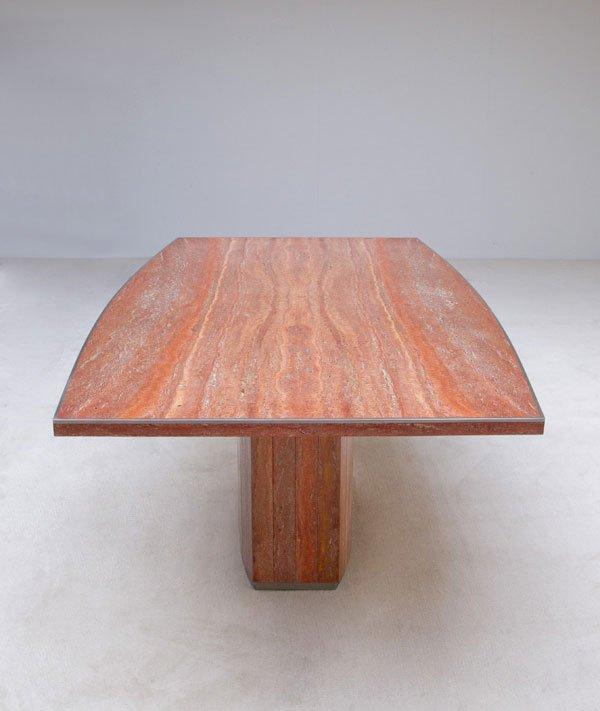 table de salle manger en marbre et m tal par willy rizzo. Black Bedroom Furniture Sets. Home Design Ideas