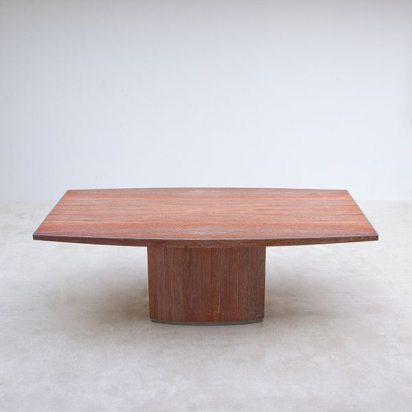 Marmor Esstisch ~ Marmor und Metall Esstisch von Willy Rizzo, 1970er bei Pamono kaufen