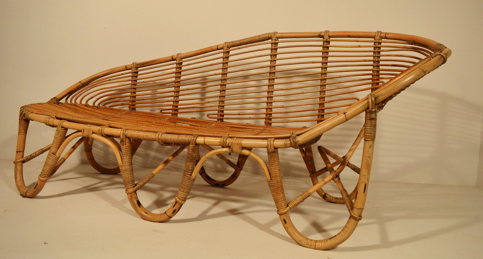 midcentury bamboo bench for sale at pamono - midcentury bamboo bench