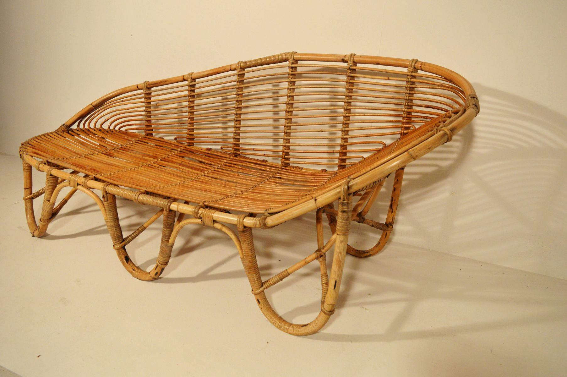 midcentury bamboo bench for sale at pamono - midcentury bamboo bench   price per piece