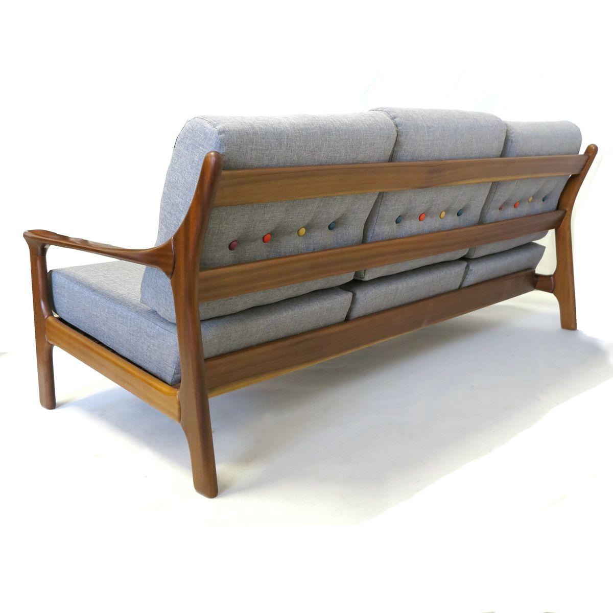 deutsches vintage dreisitzer sofa 1960er bei pamono kaufen. Black Bedroom Furniture Sets. Home Design Ideas