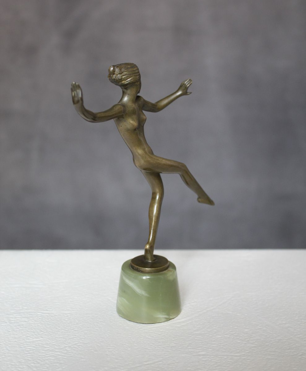 deco bronze figure by josef lorenzl 1930 for sale at pamono