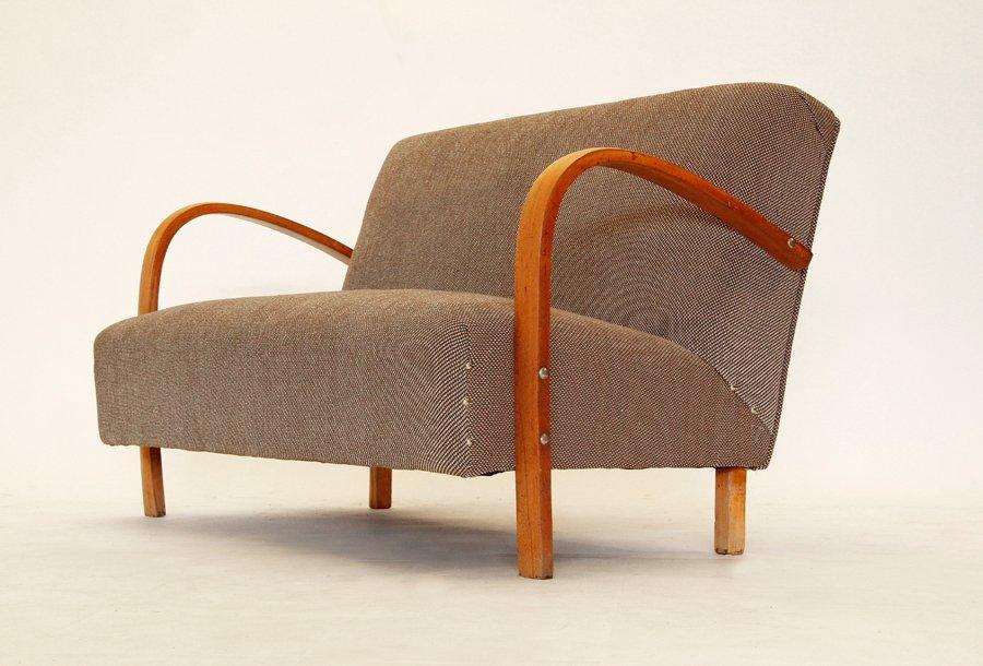italienisches art deco sofa 1940er bei pamono kaufen. Black Bedroom Furniture Sets. Home Design Ideas