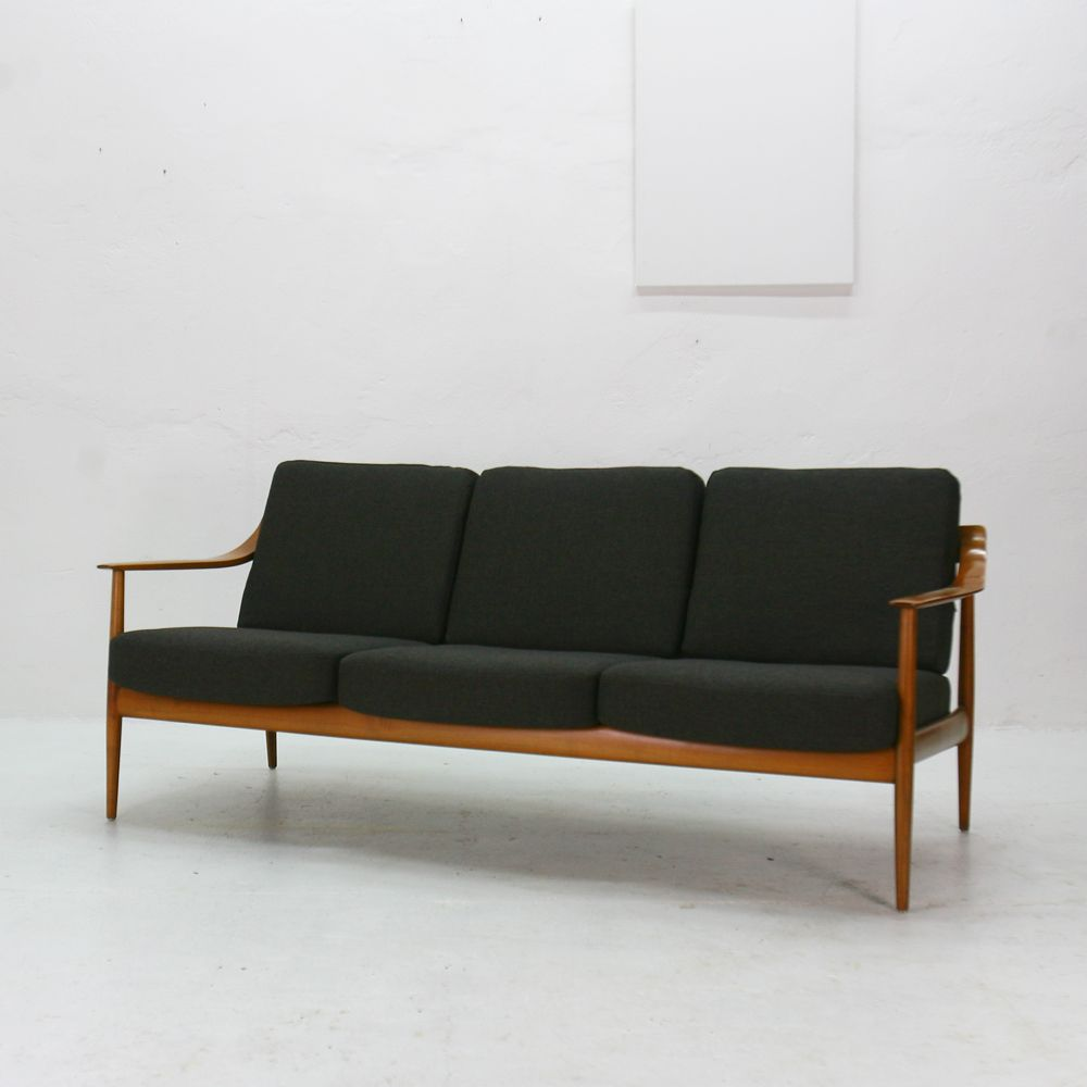 vintage cherrywood 3 seater sofa by walter knoll for knoll antimott for sale at pamono. Black Bedroom Furniture Sets. Home Design Ideas
