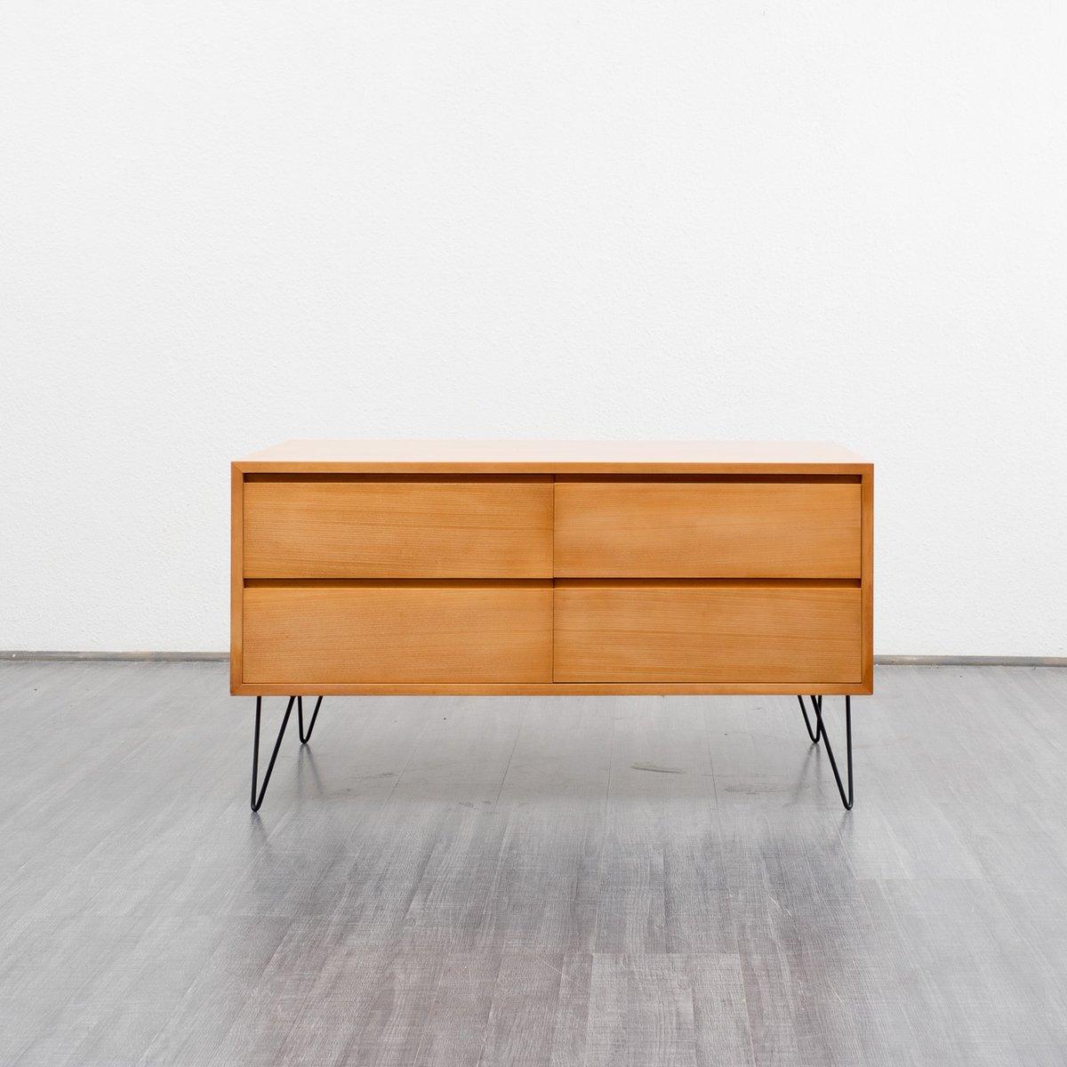 ahorn sideboard mit haarnadel beinen von wk bei pamono kaufen. Black Bedroom Furniture Sets. Home Design Ideas