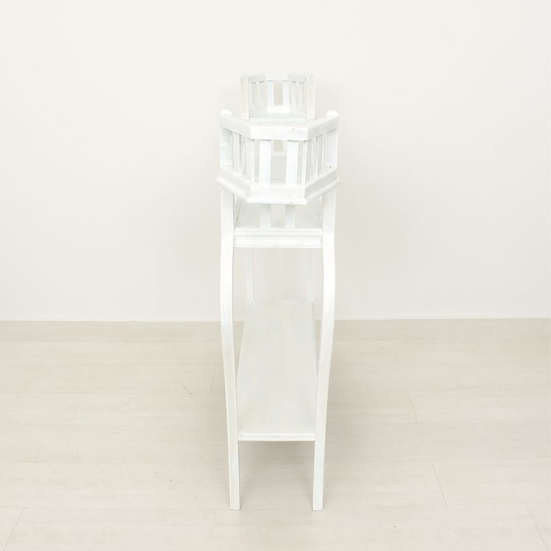 White Wooden Pot Plant Stand For Sale At Pamono