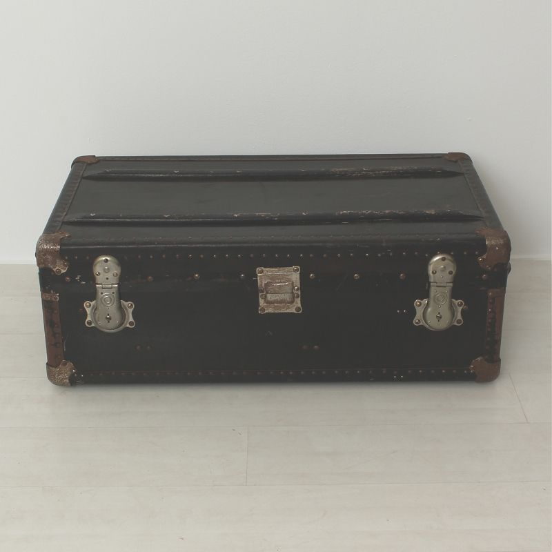 antiker schwarzer holz koffer bei pamono kaufen. Black Bedroom Furniture Sets. Home Design Ideas