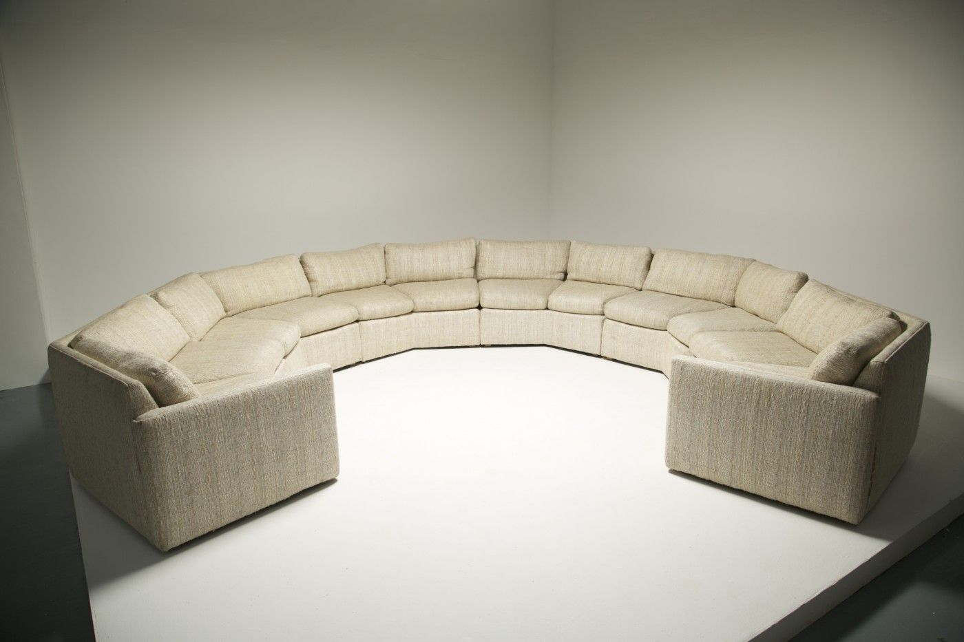 Vintage Tweed Sectional Sofa For Sale At Pamono
