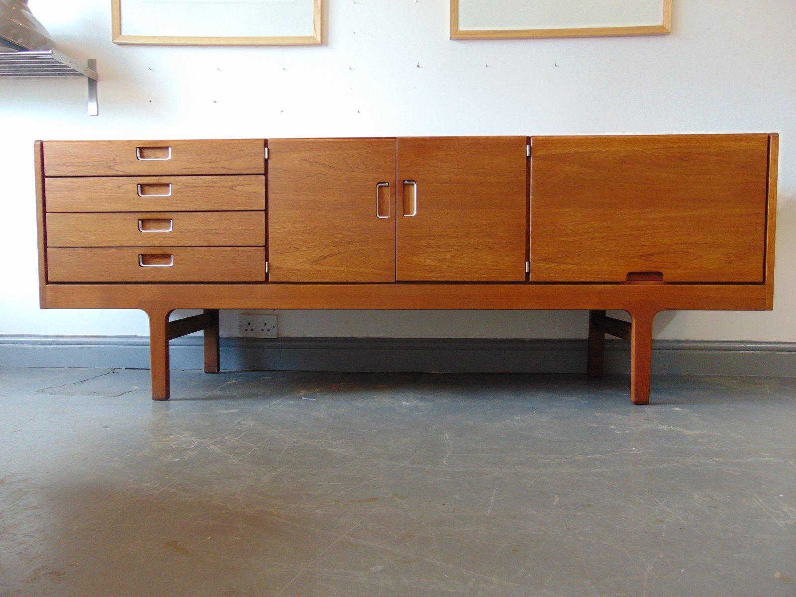langes vintage teak sideboard 1960er bei pamono kaufen. Black Bedroom Furniture Sets. Home Design Ideas