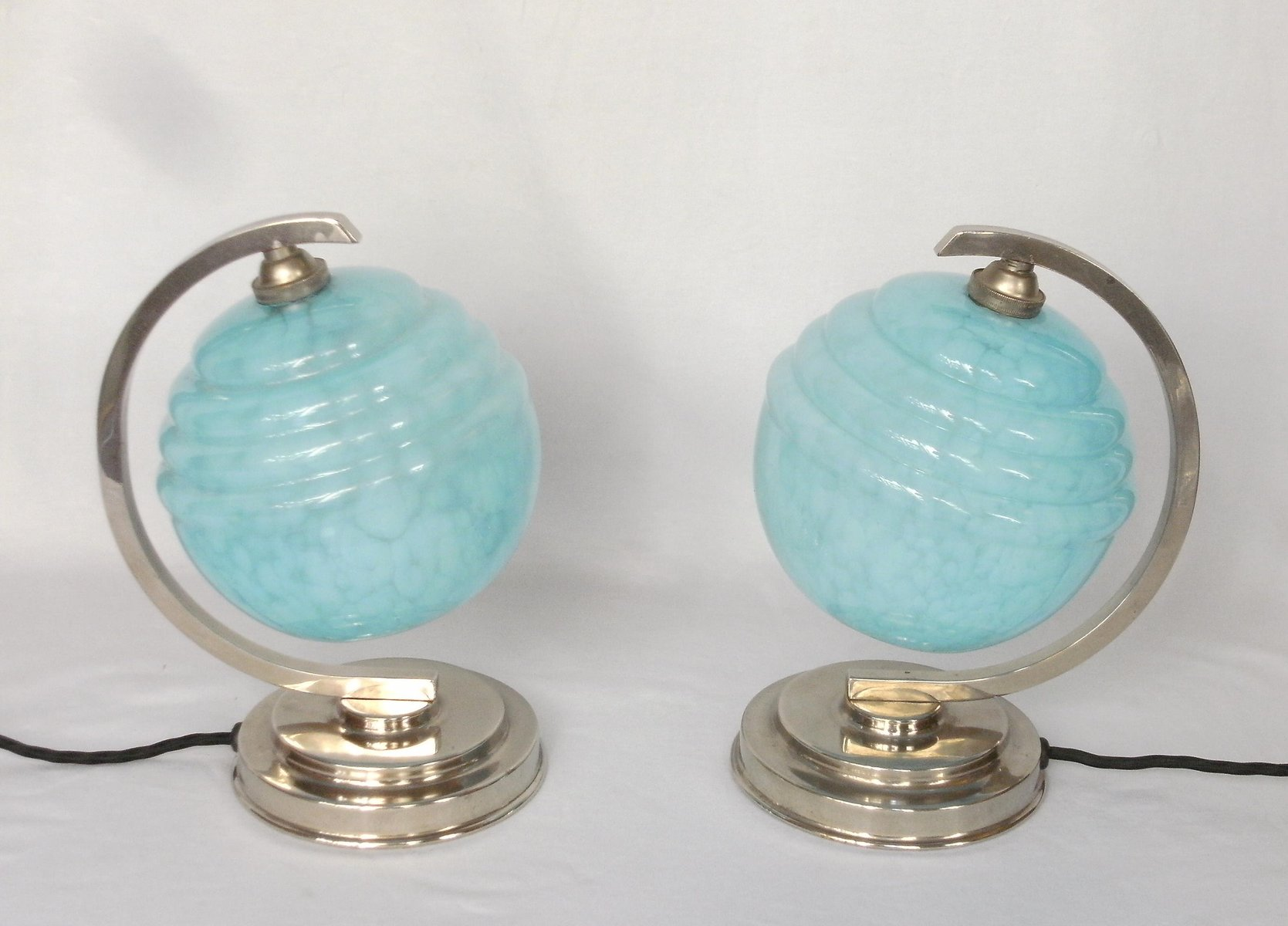 French art deco bedside table lamps set of 2 for sale at pamono geotapseo Images