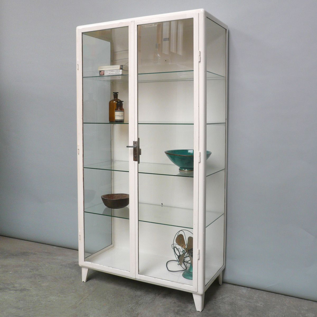 Metal Glass Display Cabinet Vintage Polish Steel And Glass Display Cabinet For Sale At Pamono
