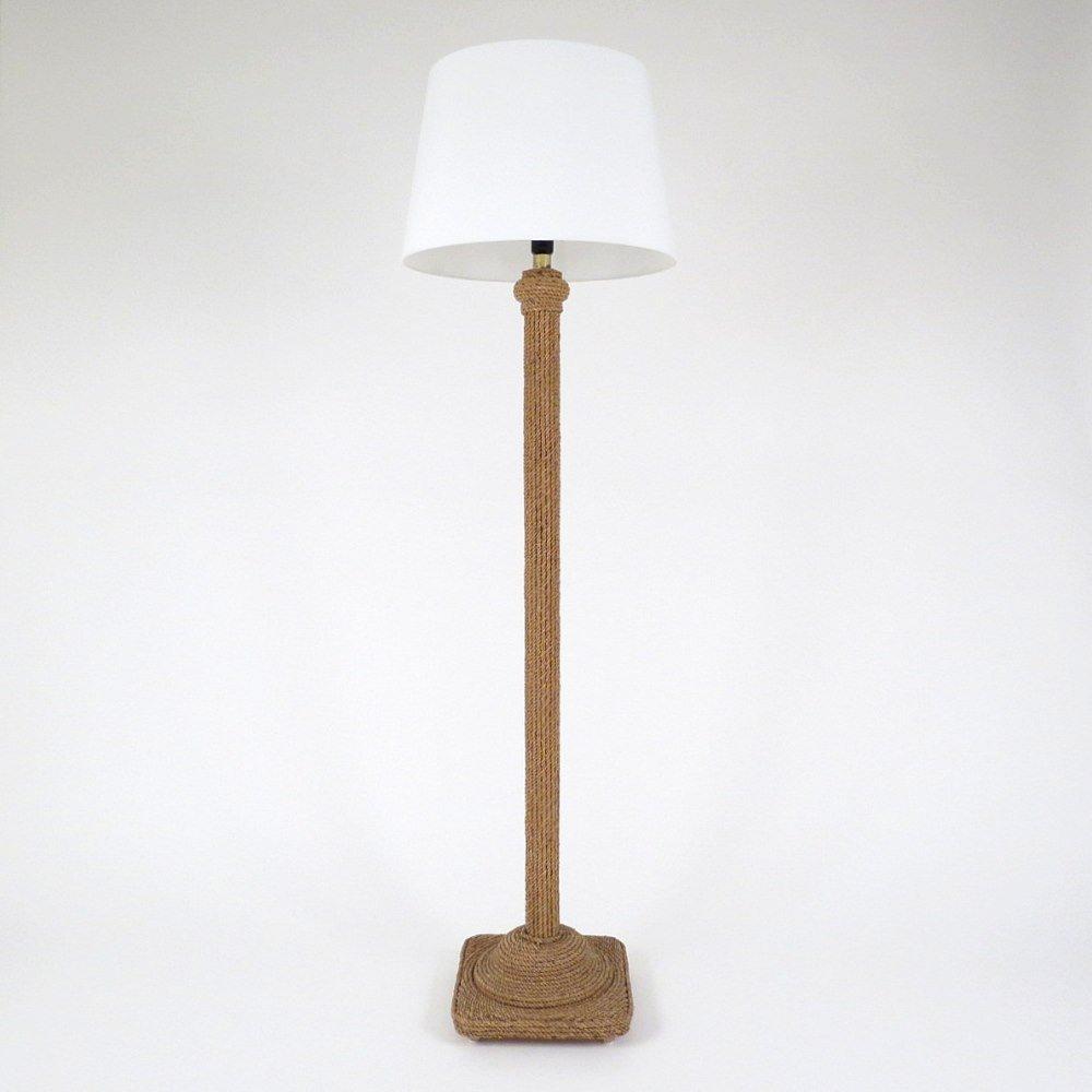 franz sische stehlampe aus holz und seil bei pamono kaufen. Black Bedroom Furniture Sets. Home Design Ideas