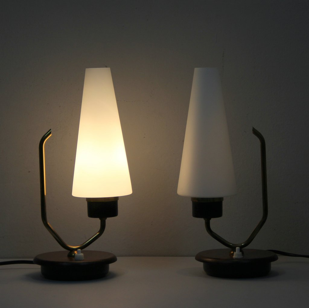 danish table lamps set of 2 2. Black Bedroom Furniture Sets. Home Design Ideas