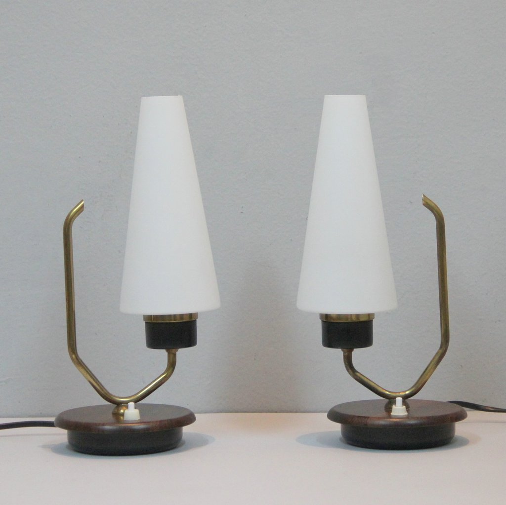 danish table lamps set of 2 for sale at pamono. Black Bedroom Furniture Sets. Home Design Ideas