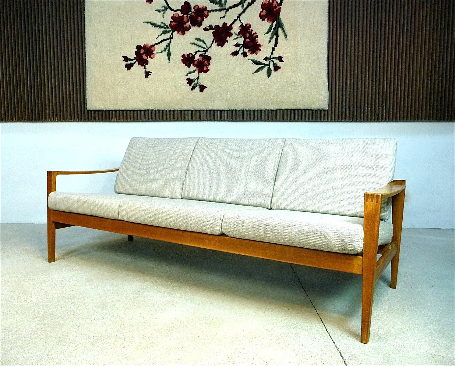 mid century 3 sitzer sofa von wk wohnen bei pamono kaufen. Black Bedroom Furniture Sets. Home Design Ideas