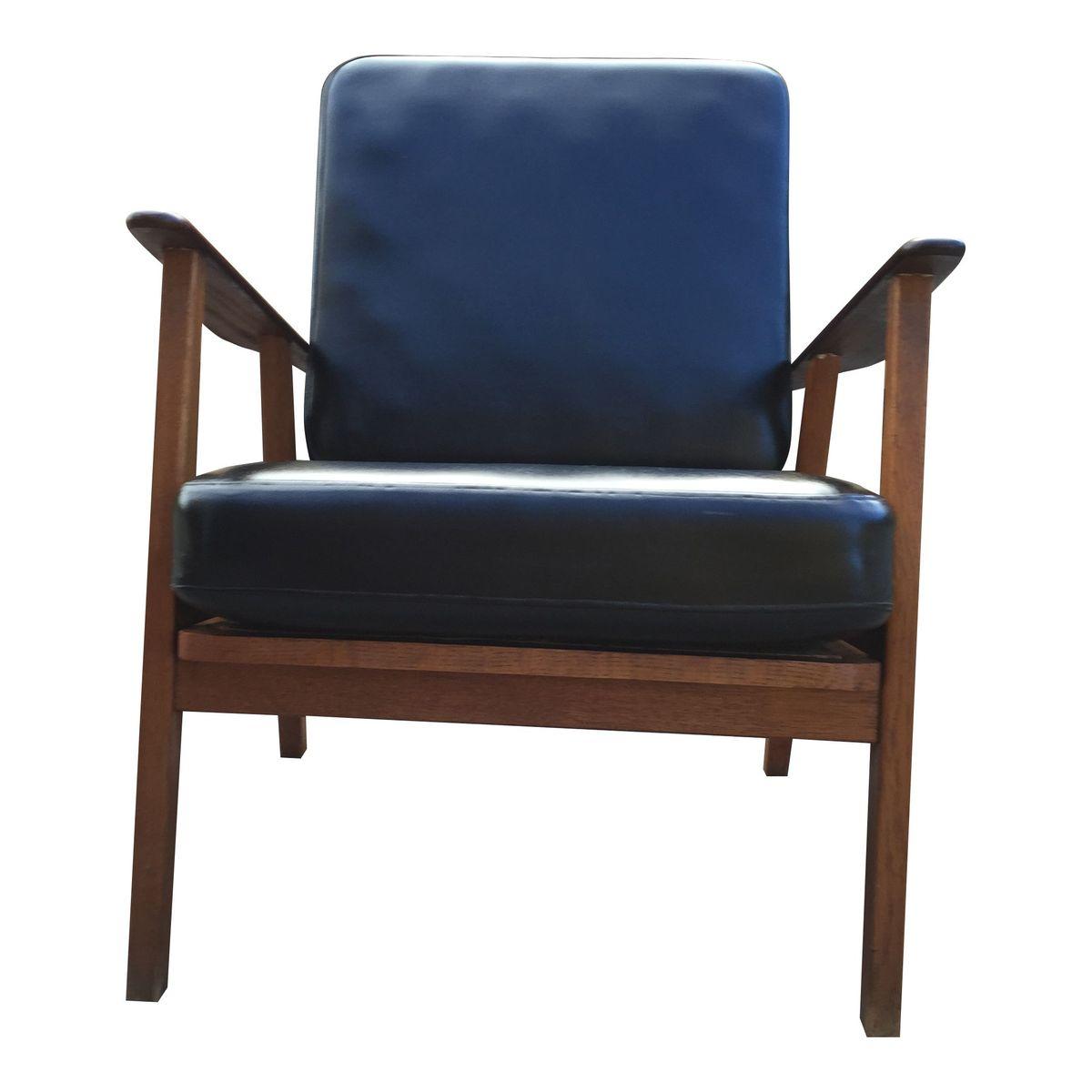 danish teak and oak armchair for sale at pamono