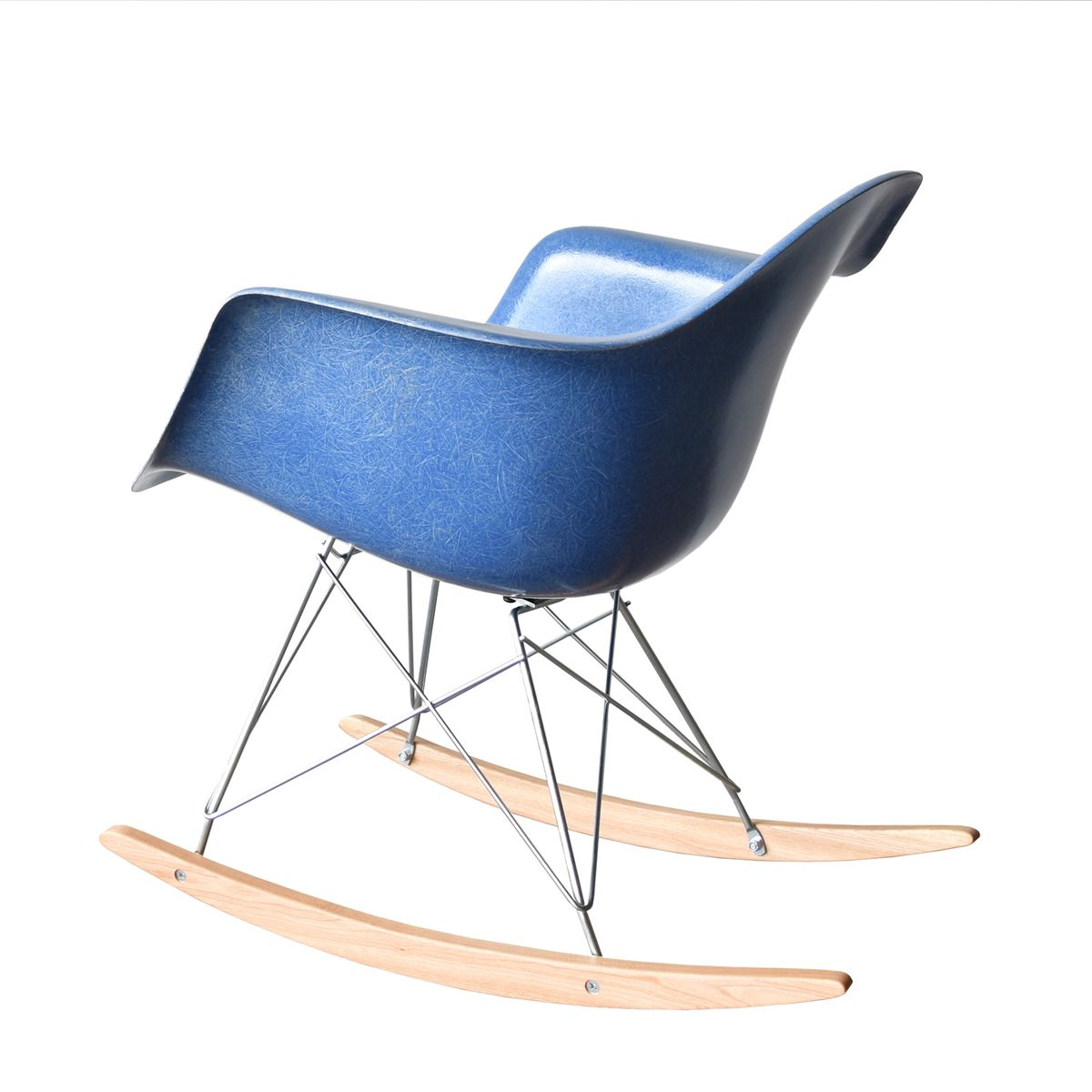 vintage rar chair in blue by charles and ray eames for herman miller