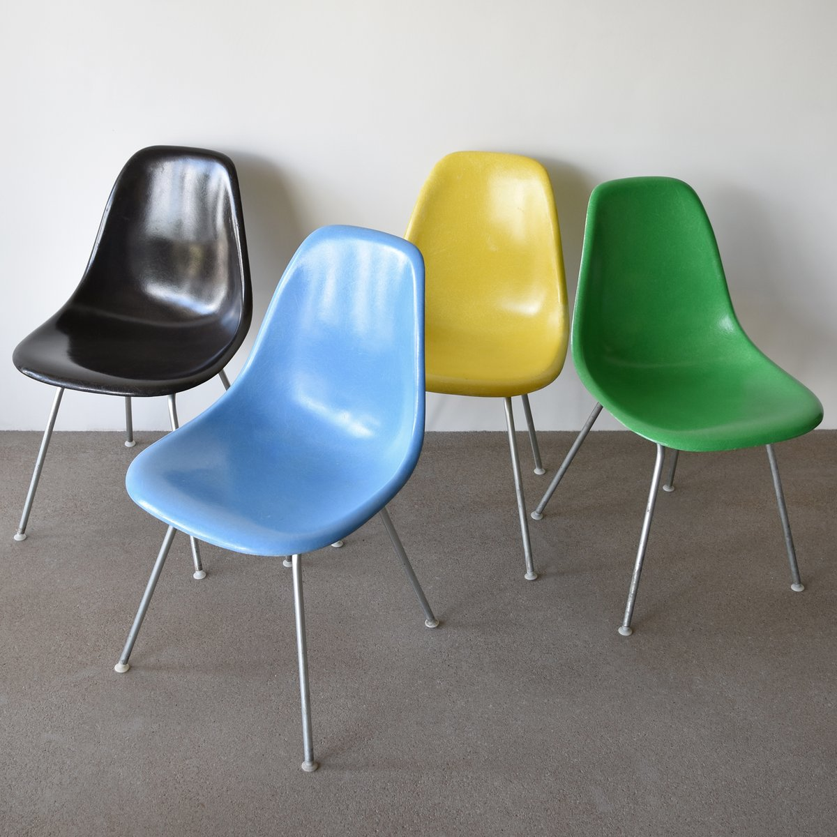 Vintage DSX Chairs by Charles and Ray Eames for Herman