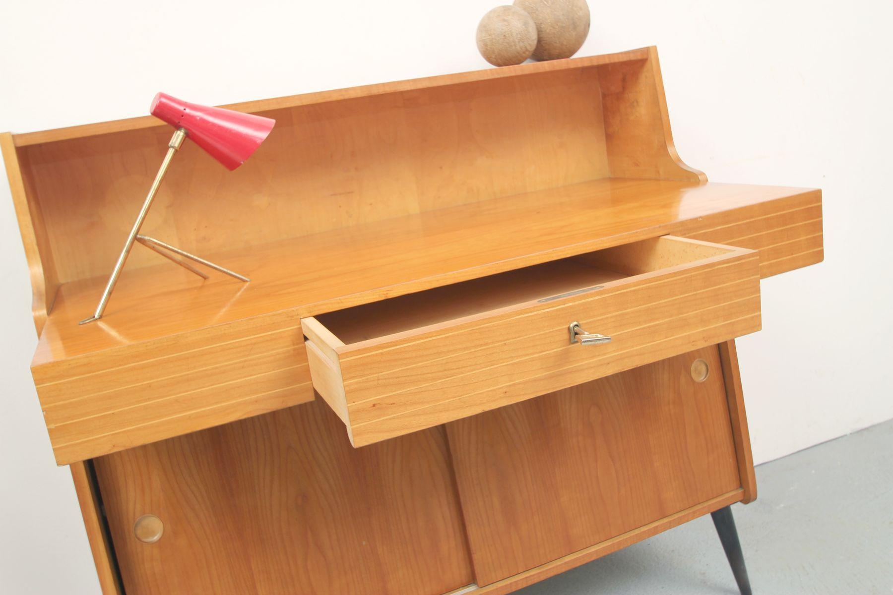 deutscher mid century kirschholz schreibtisch bei pamono kaufen. Black Bedroom Furniture Sets. Home Design Ideas