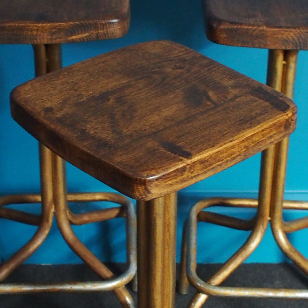 Vintage Tubular Steel Bar Stools Set Of 3 For Sale At Pamono. Full resolution  image, nominally Width 1200 Height 1200 pixels, image with #0A9BBC.