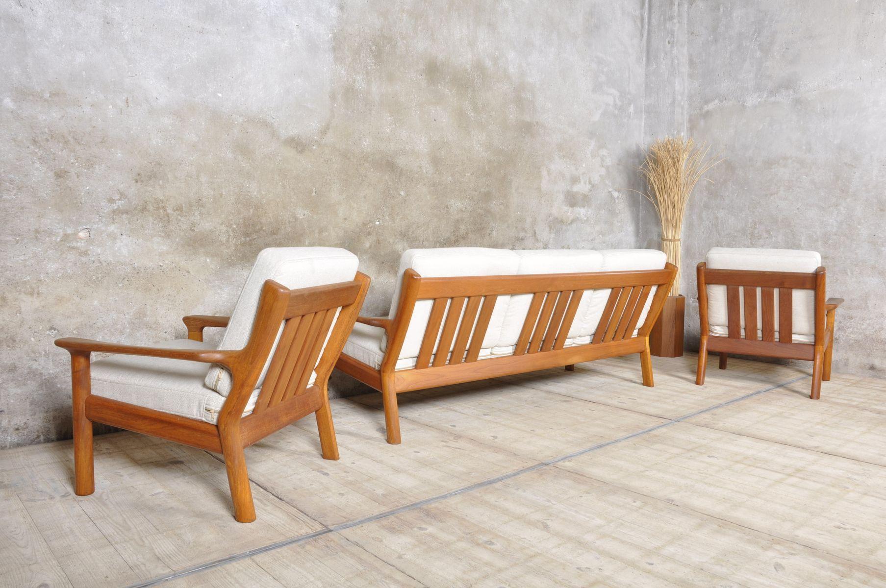 Teak Living Room Furniture Vintage Teak Living Room Set By Glostrup For Sale At Pamono