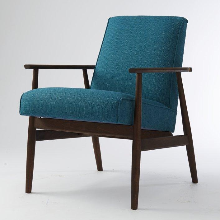 fauteuil vintage bleu pologne en vente sur pamono. Black Bedroom Furniture Sets. Home Design Ideas