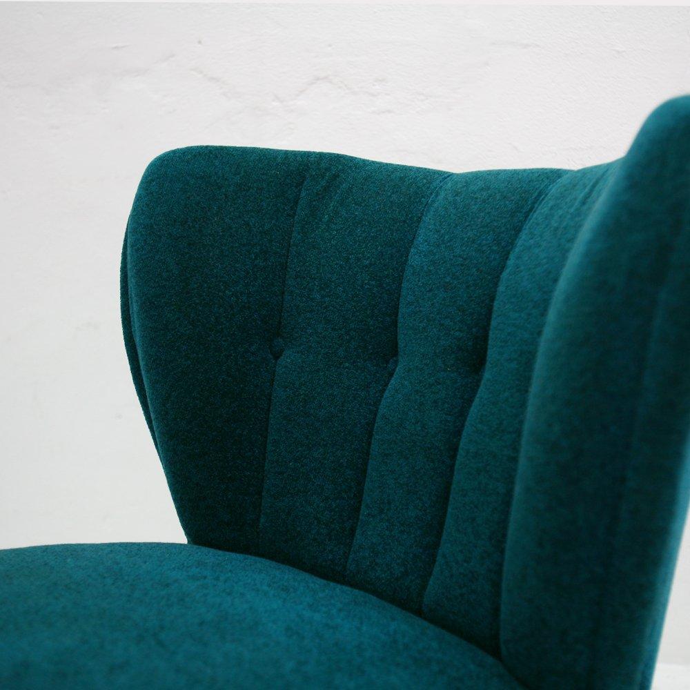 mid century vintage club clubsessel aus holz stoff bei pamono kaufen. Black Bedroom Furniture Sets. Home Design Ideas