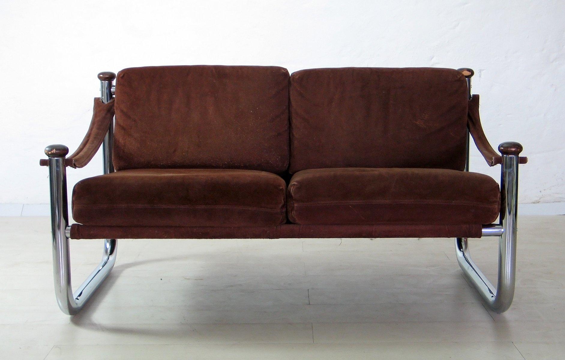 kanadische vintage nubuk leder sofas von qu bec 69 2er set bei pamono kaufen. Black Bedroom Furniture Sets. Home Design Ideas