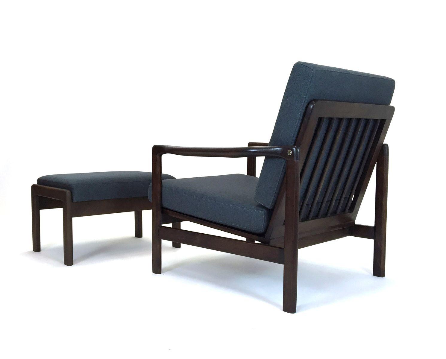 lounge stuhl mit fu hocker von zenon b czyk f r. Black Bedroom Furniture Sets. Home Design Ideas