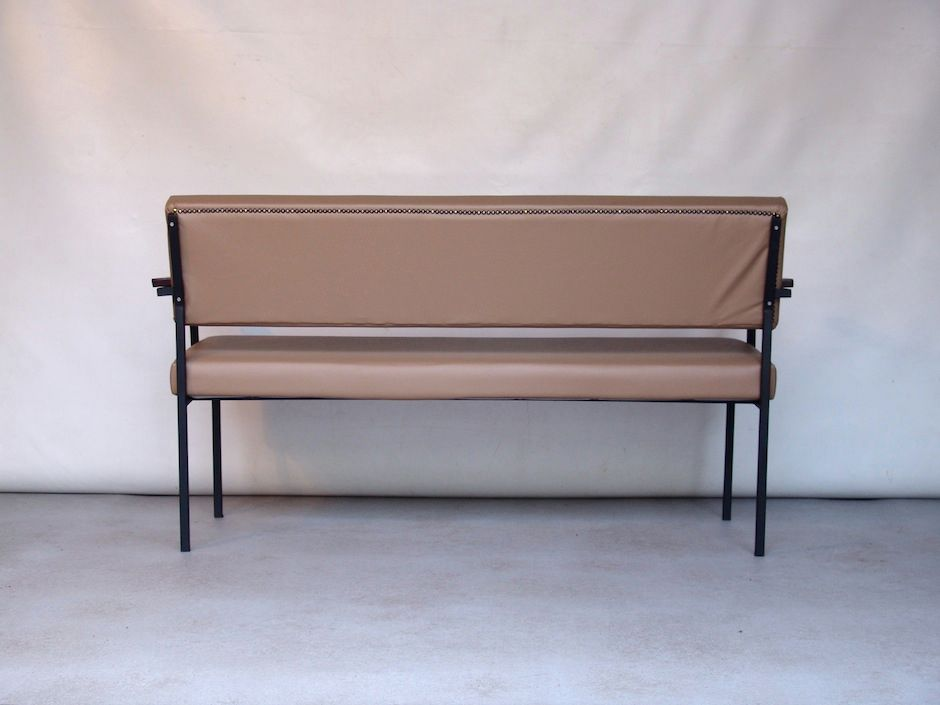 Vintage Beige Vinyl Sofa Bench For Sale At Pamono