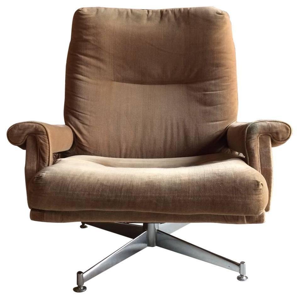 swivel armchair by howard keith for hk furniture 1970s