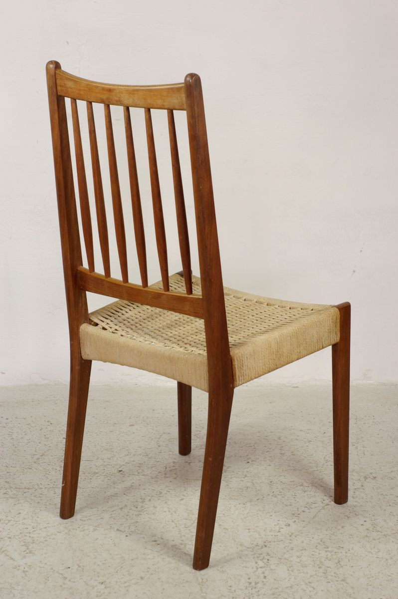 Vintatge Teak Danish Dining Chairs Set Of 4 For Sale At