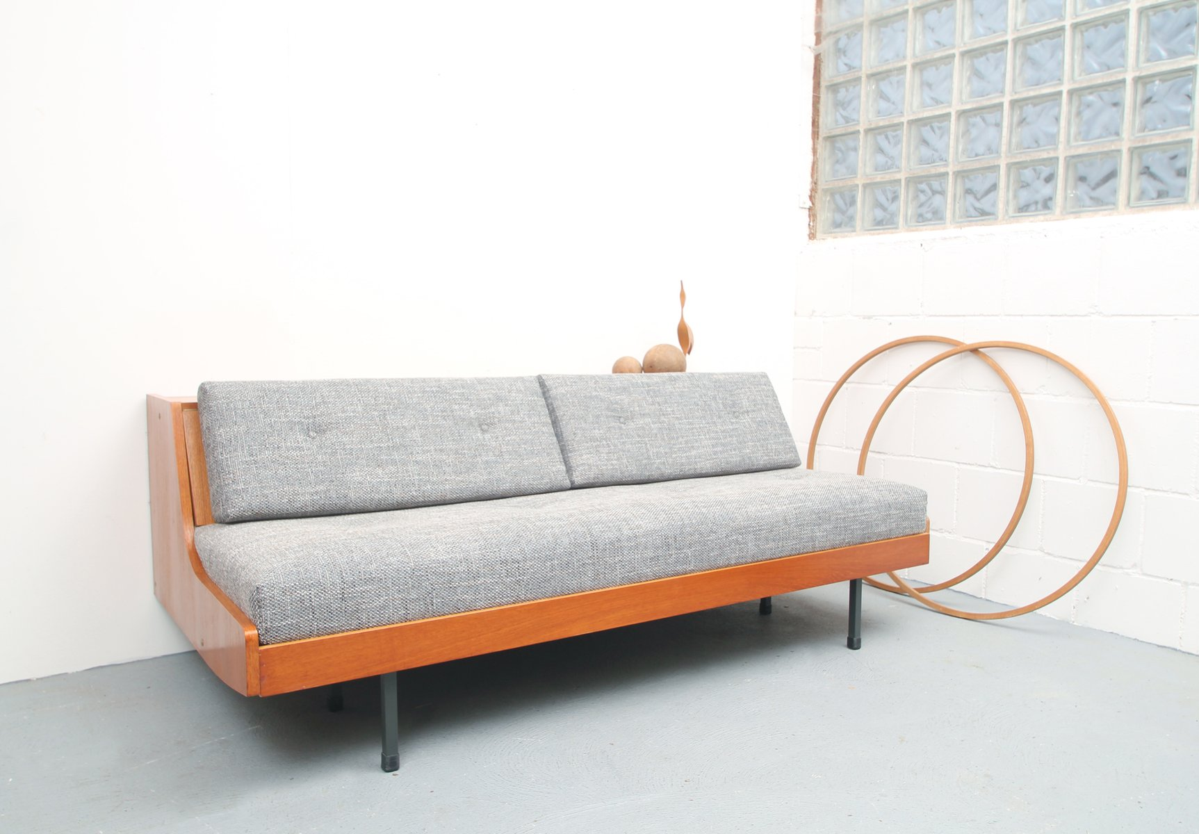 Vintage german teak sleeper sofa for sale at pamono for Sofa bed made in germany