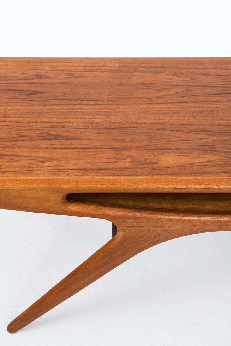 vintage teak tisch von johannes andersen f r cfc silkeborg bei pamono kaufen. Black Bedroom Furniture Sets. Home Design Ideas