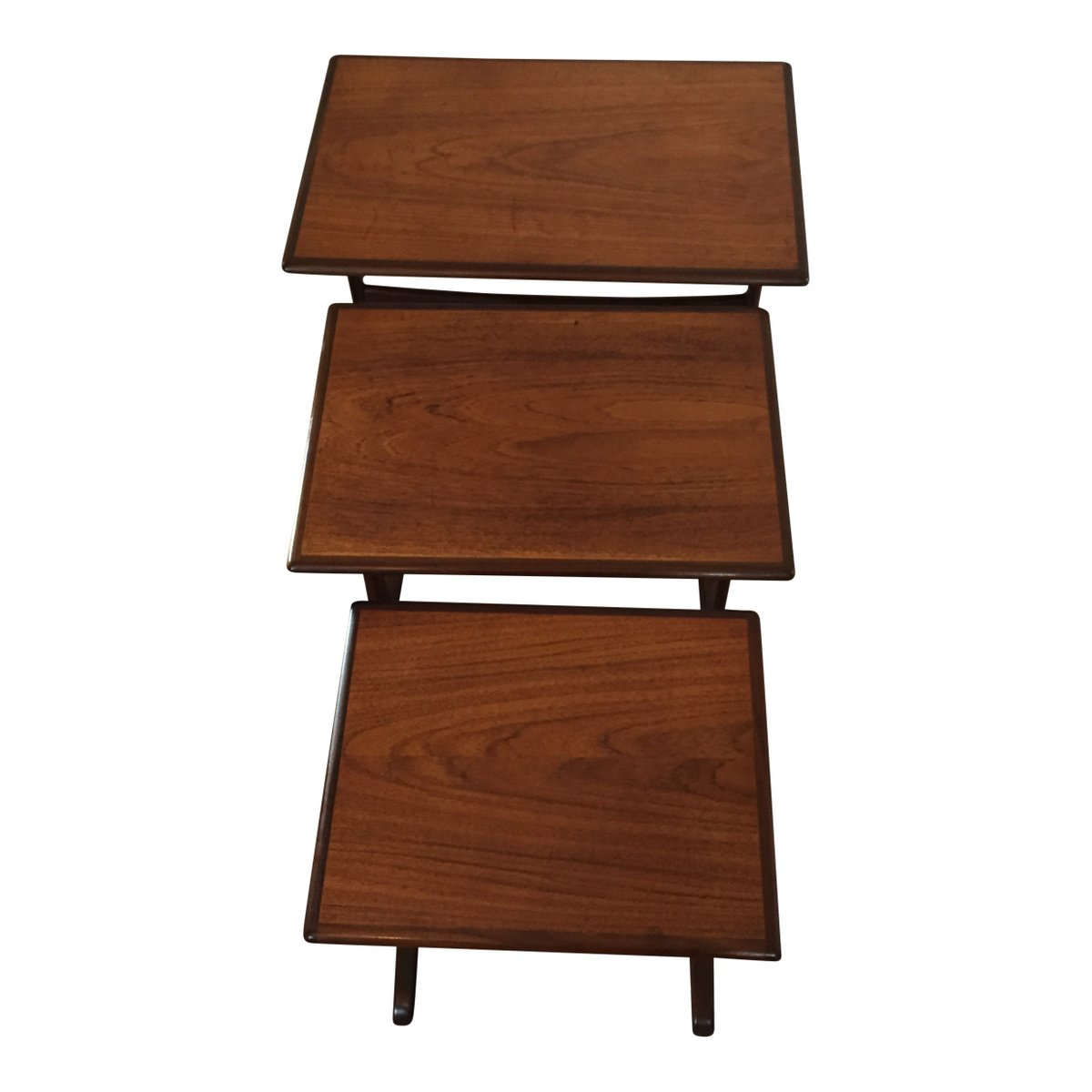 vintage teak satztische 3er set bei pamono kaufen. Black Bedroom Furniture Sets. Home Design Ideas