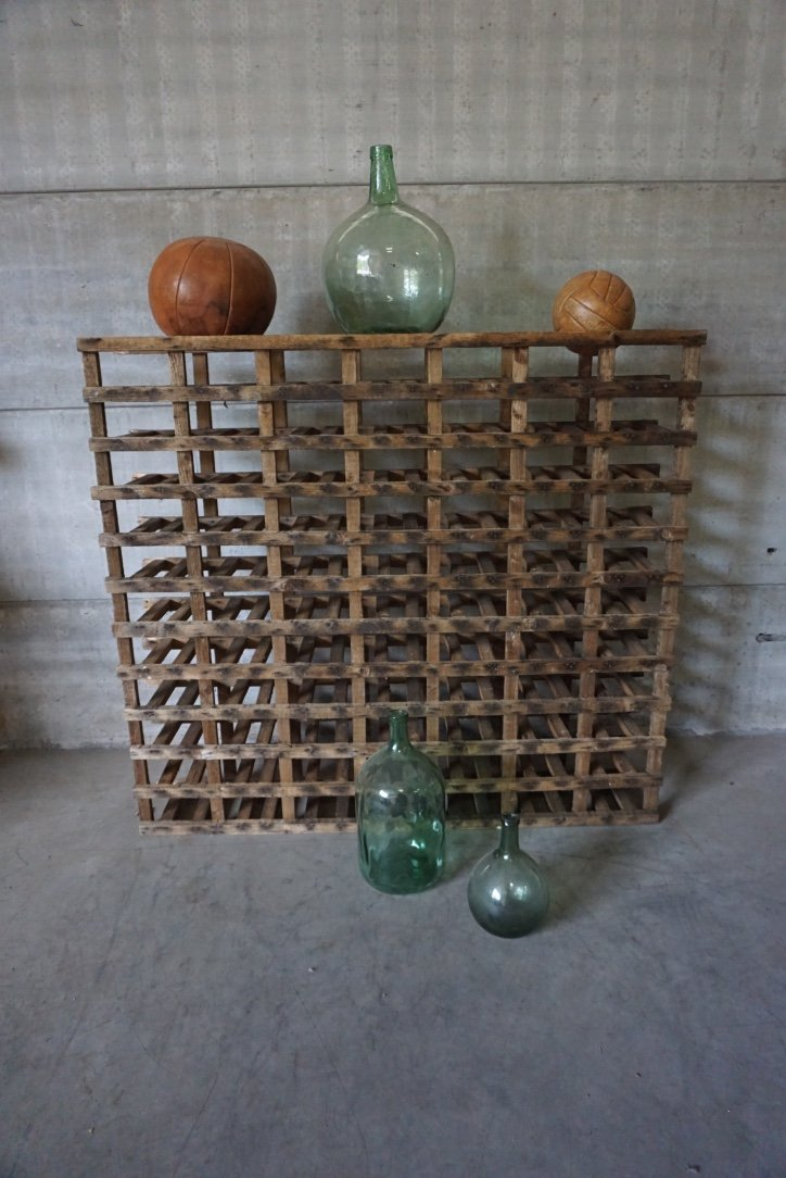Vintage industrial wine rack for sale at pamono for Old wine rack