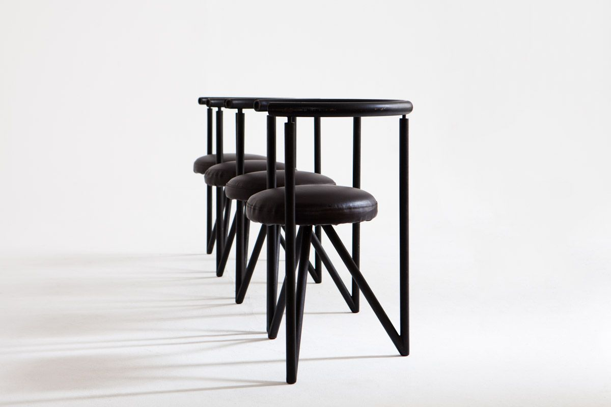 miss dorn st hle von philippe starck 4er set bei pamono. Black Bedroom Furniture Sets. Home Design Ideas