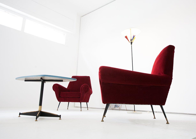 Vintage samt sessel italien 2er set bei pamono kaufen for Vintage sessel berlin