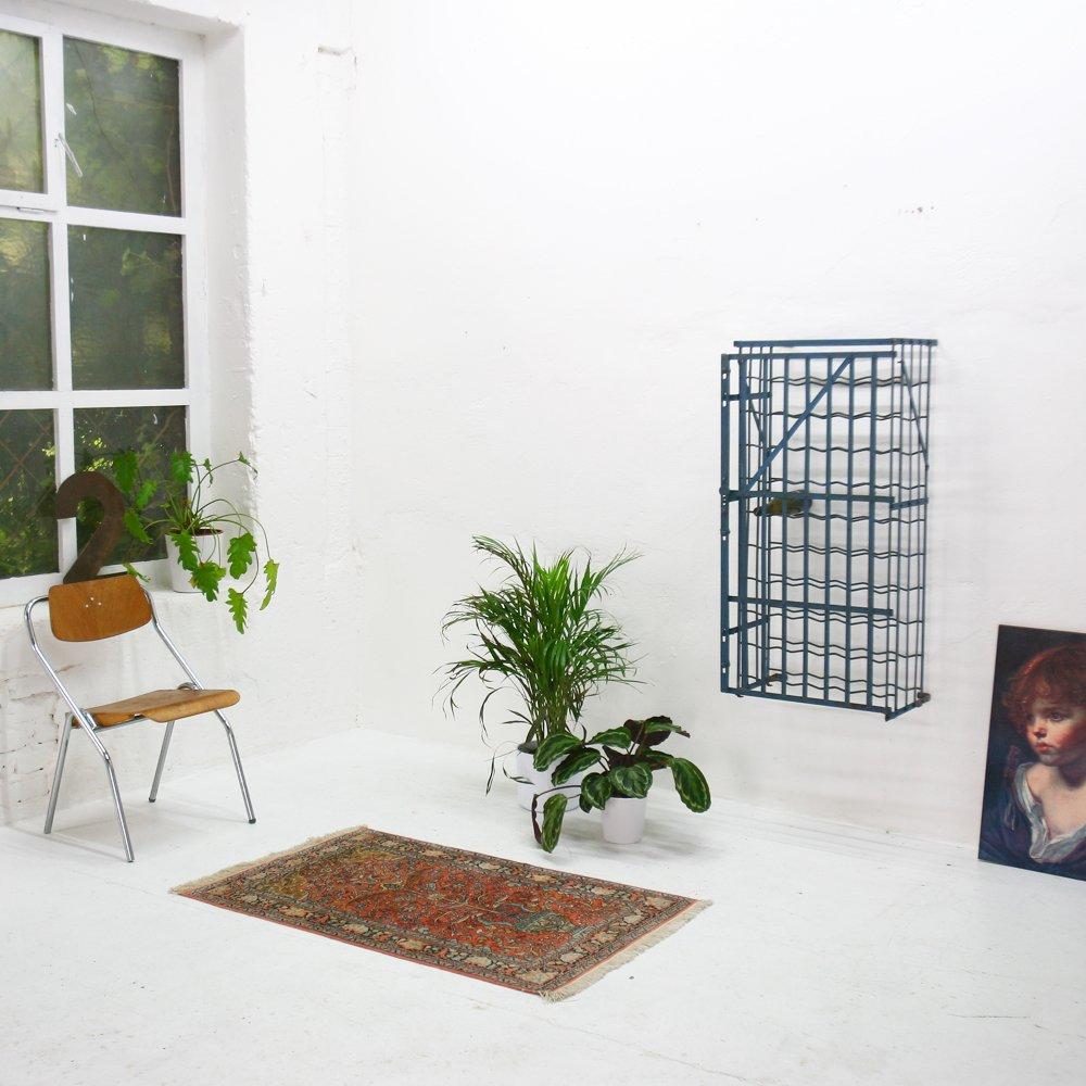 vintage stahl weinregal von rigidex bei pamono kaufen. Black Bedroom Furniture Sets. Home Design Ideas