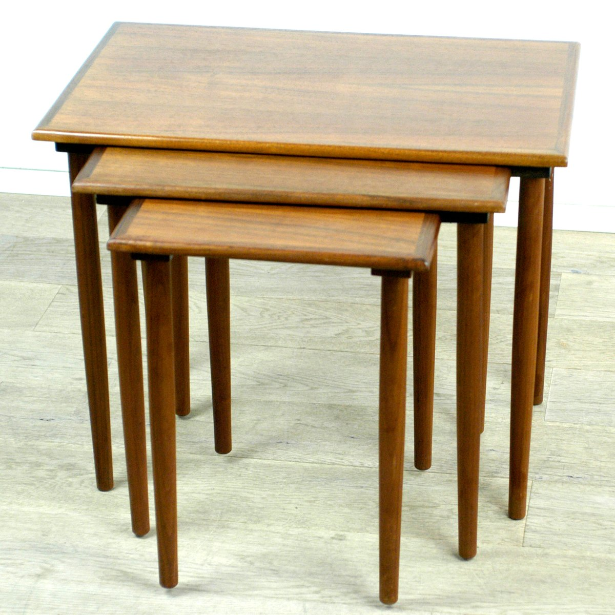 Teak Nesting Tables ~ Vintage danish teak nesting tables by poul hundevad set