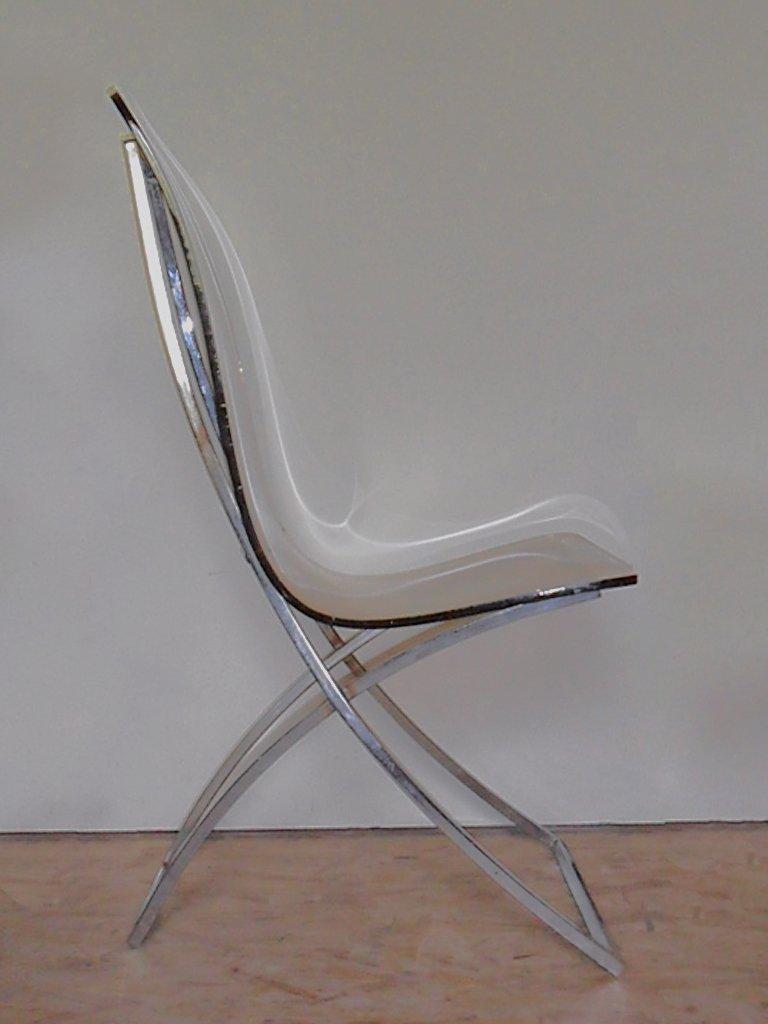 plexiglas ch4 stuhl von edmond vernassa bei pamono kaufen. Black Bedroom Furniture Sets. Home Design Ideas