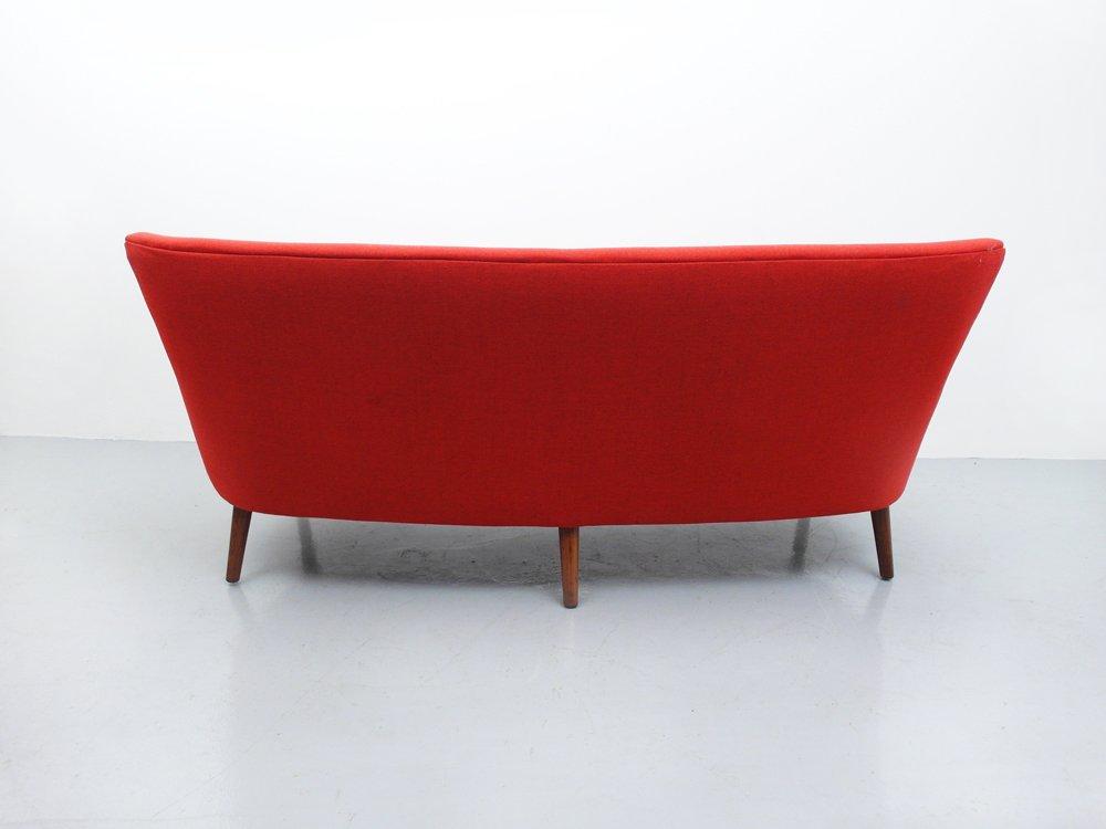 Orange Mid Century Sofa By Kurt Olsen For Sale At Pamono