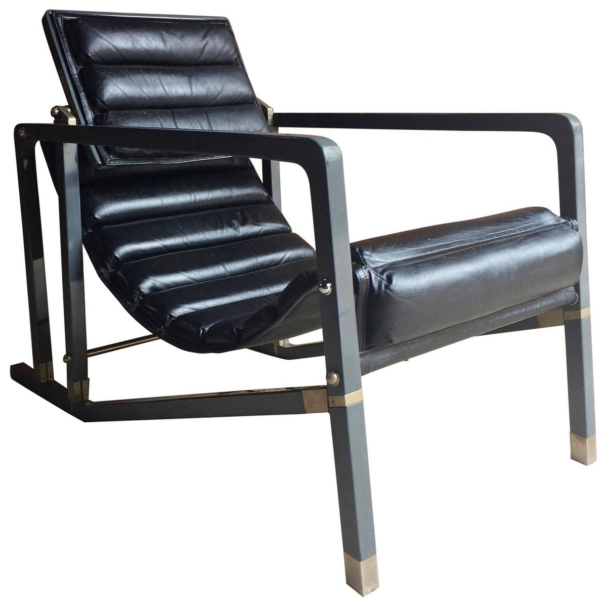 Vintage Transat Lounge Chair by Eileen Gray for Aram for sale at Pamono